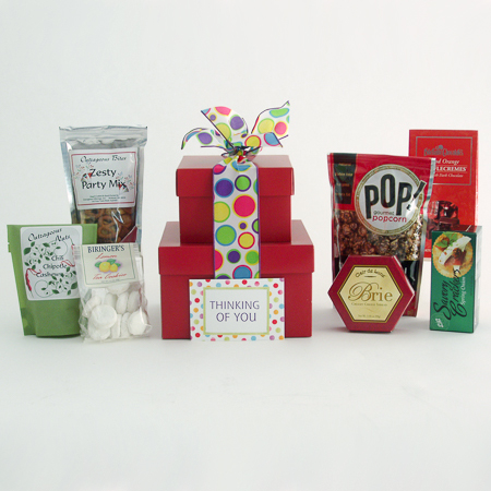 #71 Thinking of You Gourmet Treats Stacked Gift Boxes