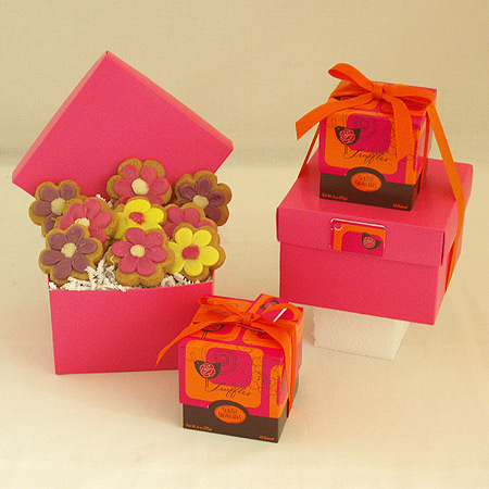 #83 Flower Shaped Cookies and Chocolates Gift Box