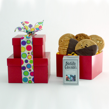 #85 Chocolates and Cookies Stacked Gift Boxes