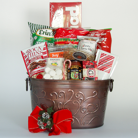Holiday #B2 Extra-Large Holiday Crowd Pleaser Gift Basket with Portlock's One Pound Smoked Salmon Fillet at $138.95