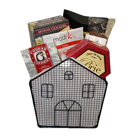 #29 Welcome to Your New Home Wire House Gift Basket