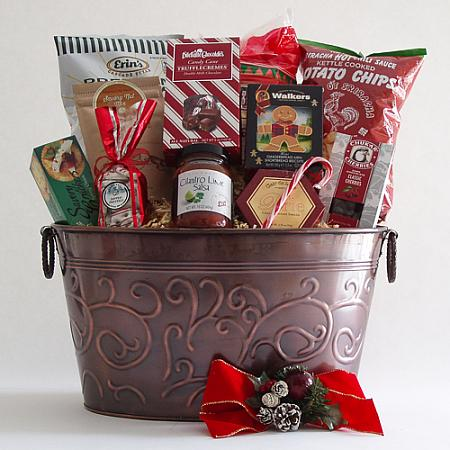 E. Large Holiday Crowd Pleaser Gift Basket