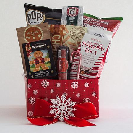 F. Medium Holiday Crowd Pleaser Gift Basket