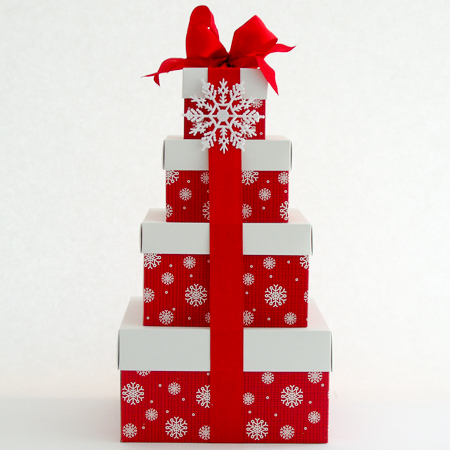 Holiday #H Holiday Treats Stacked Gift Boxes at $99.95