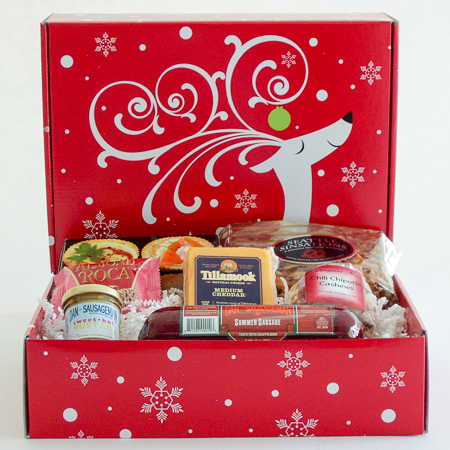Holiday #S Pacific NW Holiday Gift Box with Summer Sausage and Tillamook Cheese