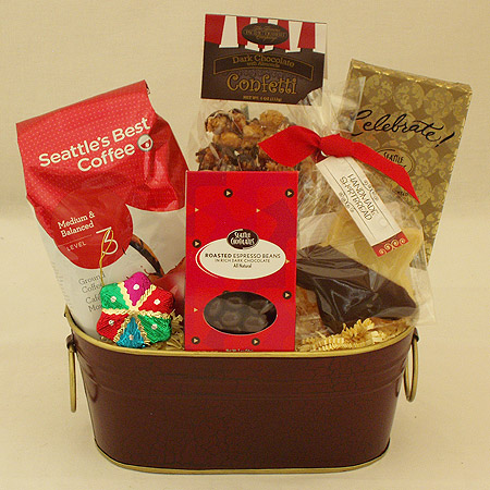 Holiday #L Holiday Coffee and Chocolate Gift Basket