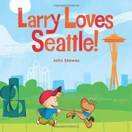 Add the Book, Larry Loves Seattle book and Plush Dog, Larry