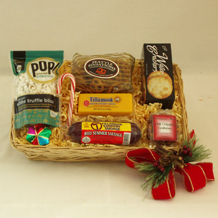 Holiday #N Snack Attack Summer Sausage and Cheese Gift Basket
