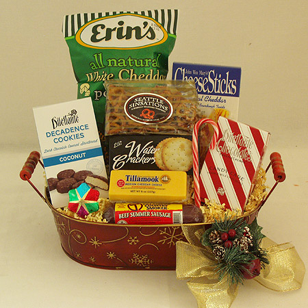 Holiday #R Medium Holiday Crowd Pleaser Gift Basket at $64.95