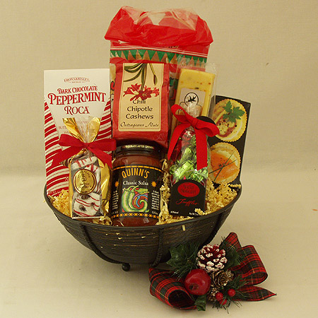 Holiday #S Medium Holiday Crowd Pleaser Gift Basket at $58.95