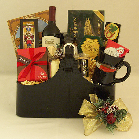 Holiday #EE The Executive Gourmet Holiday Wine Gift Basket