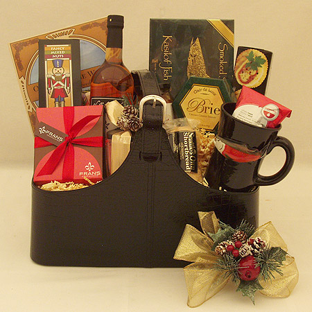 Holiday #FF The Executive Gourmet Holiday Sparkling Cider Gift Basket